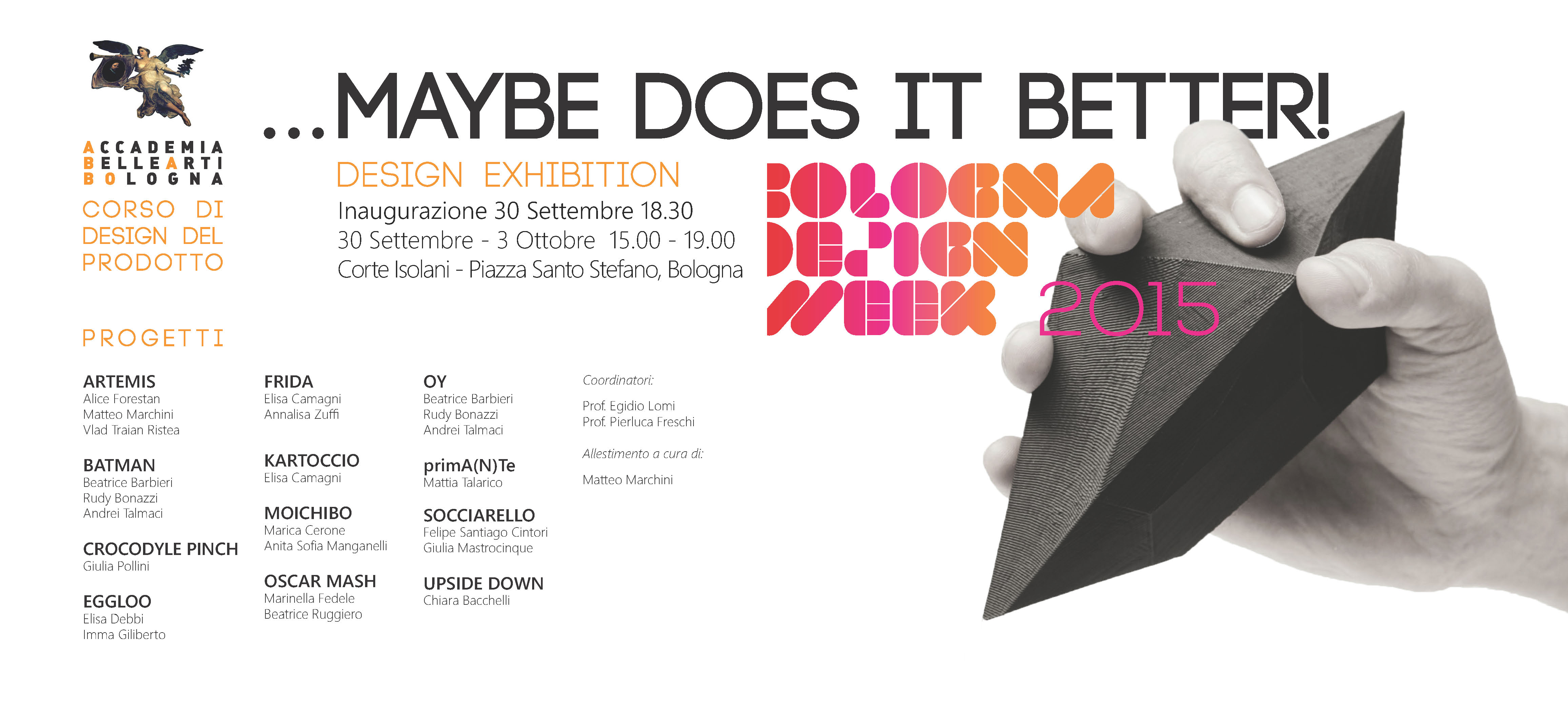 ABABO PER BOLOGNA DESIGN WEEK (2) …MAYBE DOES IT BETTER! - Accademia ...