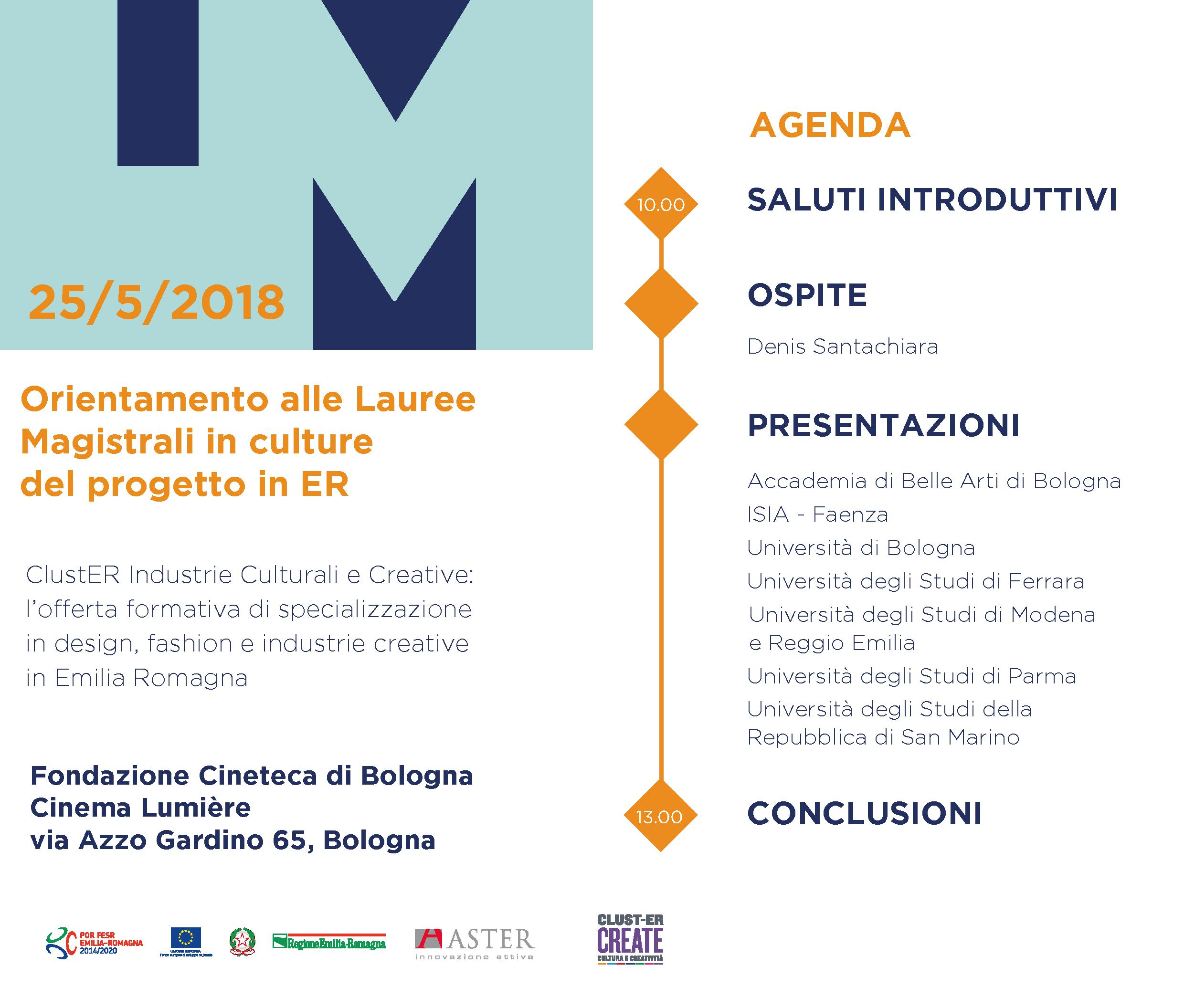 ORIENTAMENTO ALLE LAUREE MAGISTRALI IN CULTURE DEL PROGETTO IN ...